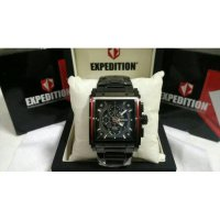 JAM TANGAN PRIA | COWOK EXPEDITION E6731 BLACK RED ORIGINAL