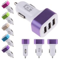 Saver Mobil Adaptor Charger 3 USB 4.1A Charger Mobil Cas Mobil Adapter Mobil