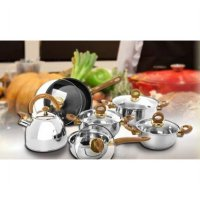 Vicenza Stainless Cookware Set V-812 / Panci + Teko Set