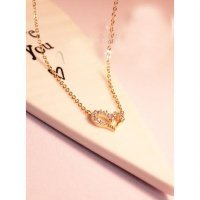 kalung hati berlian emas diamond Wishing love necklace jka073 | OLA