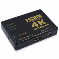 HDMI Switcher 3 Port 4K x 2K Ultra HD with Remote - Black
