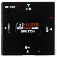HDMI Switcher 3 Port Full HD 1080P - Black
