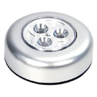 Stick and Click Touch LED Lamp 3 LED - Silver