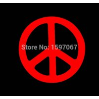 [globalbuy] Classic Peace Symbol Hippie Protest Graphic Sticker Car Window Truck Bumper Do/1747434