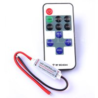 Mini RF LED Remote Control for Single Color LED Strip - White