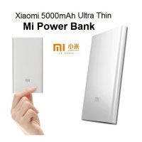 Xiaomi Powerbank 5000 mAh Ultrathin Series 0.99cm - Silver - Original 100%