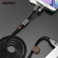 Remax Gemini High Speed 2 in 1 Micro Usb / Lightning Pin for Smartphone and iPhone 5/6 - RC-025t - Black