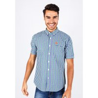 [LGS] Kemeja Slim Fit - Casual Active - Green/Blue/White Gingham