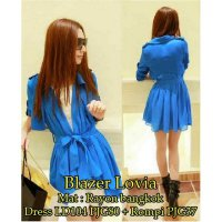 [Limited Offer] [Lovia 2in1 SW] blazer wanita rayon bangkok biru
