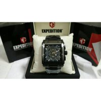 JAM TANGAN PRIA | COWOK EXPEDITION E6731 FULL BLACK ORIGINAL