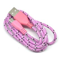 Samsung V8 Nylon Braided Micro USB Cable 1 Meter - Pink