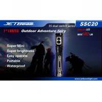 JETBeam SSC20 Senter LED CREE G2 580 Lumens - Black