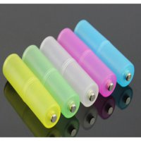 AAA to AA Batteries Case with Bottom Positive Electrode - Transparent