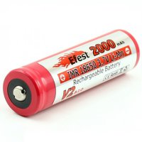 Efest IMR 18650 Li-Mn Battery 2000mAh 3.7V with Button Top - 186502V2 - Red