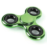 Colorful Tri Fidget Spinner - Green