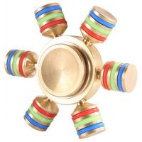 Hex Metal Fidget Spinner - Golden