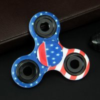 Painted Tri Fidget Spinner 608 Bearing - Blue
