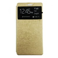 Ume Samsung Galaxy Young 2 G130 Flipcase Flipcover Flipshel Casing Leather Softcase Gold