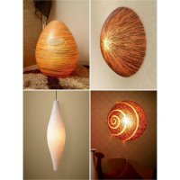 Orion/Odeo/Cocostik Wall Lamp & Peach Pola/Peach Pasta White Hanging Lamp & Igor Egg Floor Lamp