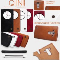 LG G4 Beat Nillkin Qin Leather Case Casing Cover Flip