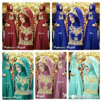 DRESS MUSLIM PRINCESS JERSEY KOMBI BORDIR FREE PASHMINA BEST SELLER