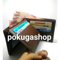 premium leather mens wallet brown / dompet exclusive pria resleting