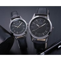 Jam Tangan Couple Jam Tangan Alba Couple Murah SK2940 Leather Full Black 1014c96603