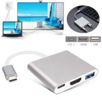 Termurah Converter Usb Type C To Hdmi + Type C +Usb 3.0 Adapter Cable