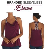 STOK LIMITED!!/ SLEEVELESS BRANDED FASHION TOPS HIGH QUALITY - White House/ AGCO338