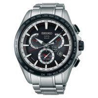 (Limited Offer) Seiko Astron SSE051J1 GPS Solar 8X Series Dual Time Stainless Steel
