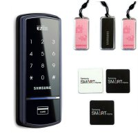Samsung Ezon Shs-1321 Digital Door Lock Keyless Touchpad Security with 6 Keys and English Manual