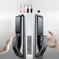 Push Pull Innovation SAMSUNG SHS-P710 digital door lock keyless touchpad security EZON + Remote + 4p
