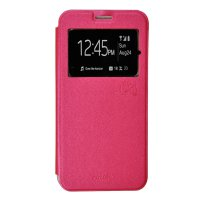 Smile Flip Cover Case Infinix Note 2 X600 - Hot Pink