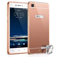 Bumper Mirror Oppo Mirror 5 A51T Backcase Metal Case Hardcase Softcase Rosegold Pink