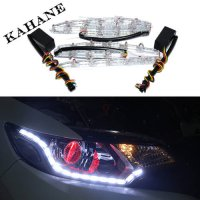[globalbuy] LED Car Flexible White/Amber Switchback LED Strip Light for Headlight Dual Col/3547020