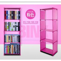 Rak buku single bookshelf book case self cabinet baju show case