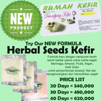 20 Day Herbal Seeds Kefir/ Masker Kefir / Rumah Kefir /