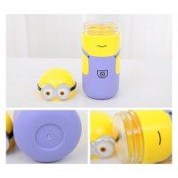 Minion travel cup drinking glass water bottle botol air minum 250ml