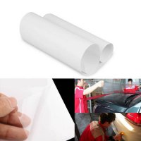 [globalbuy] Car Sticker Clear Car Bumper Hood Mirror Paint Protection Film Bra 100x20cm Cl/3479620