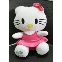 Boneka Hello Kitty Dress Pink Duduk Manis Lucuu