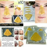 Masker Hidung Collagen / Masker Komedo / Gold Collagen Nose Mask | SERAYU KOSMETIK |