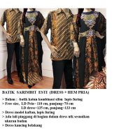Batik Couple Esti, dress kaftan plus hem pria