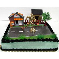 [poledit] Running Cake Marathon Running City Scape Themed 12 Piece Birthday Cake Topper Fe/13871230