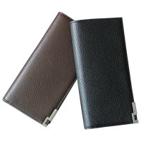 Fashion Men Bifold Leather Long Wallet Card Holder Coin Wallet Purse