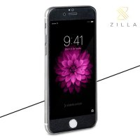 Zilla 3D Carbon Fiber Tempered Glass Curved Edge 9H for iPhone 6 Plus - Black