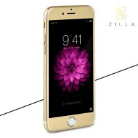 Zilla 3D Carbon Fiber Tempered Glass Curved Edge 9H for iPhone 6/6s - Golden