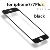 Zilla 3D Carbon Fiber Tempered Glass Curved Edge 9H for iPhone 7 - Black