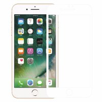 Zilla 3D Full Protect Tempered Glass Curved Edge 9H for iPhone 7 Plus - White