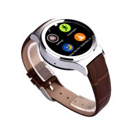 [Recommended] Onix Smartwatch S3 Leather Kulit Sim Card, WaterProof, Camera - Silver