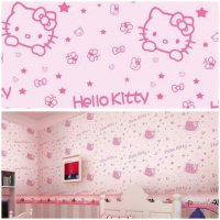 Grosir Murah Wallpaper Sticker Dinding Hello Kitty Full Pink 10 M Termurah07